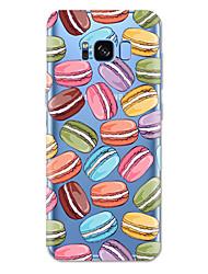 Недорогие -Кейс для Назначение SSamsung Galaxy S8 Plus / S8 / S7 edge С узором Кейс на заднюю панель Продукты питания Мягкий ТПУ