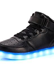 Недорогие -Муж. Осветительная обувь Кожа ПВХ  / Искусственная кожа Осень / Зима Удобная обувь Спортивная обувь Для прогулок Белый / Черный / Красный