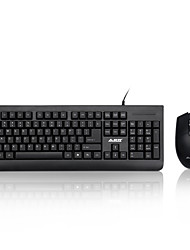 Недорогие -ajazz wiredx1180 мультимедиа эргономичный usb gamingblue переключатели механика клавиатура 1000 точек на дюйм 8 кнопок оптическая игровая