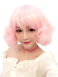 Недорогие -Косплэй парики Жен. Девочки 30 дюймовый Термостойкое волокно Розовый Аниме