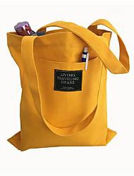 preiswerte -Damen Taschen Leinwand Umhängetasche Tasche für Ganzjährig Weiß Schwarz Rosa Gelb