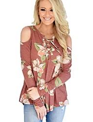 cheap -Women's Daily Sexy Spring Fall T-shirt