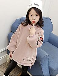 Mädchen Bluse einfarbig Baumwolle Polyester Herbst Winter