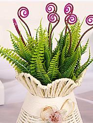 cheap -28cm 4 Pcs 7 Branches/pc Home Decoration Artificial Green Plants Hippocmpus Grass