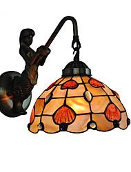 preiswerte -durchmesser 20 cm retro meerjungfrau tiffany wandleuchten shell schatten wohnzimmer schlafzimmer leuchte