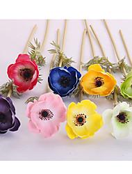 1 Une succursale Polyester Roses Fleur de Table Fleurs artificielles