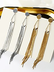 cheap -Women's Silver Plated Drop Earrings / Hoop Earrings - Sexy / Statement Gold / Silver Line Earrings For Party / Stage