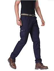 economico -Per uomo Taglie forti Vintage Casual Media elasticità Chino Cargo Pants Pantaloni, Tinta unita Cotone Per tutte le stagioni