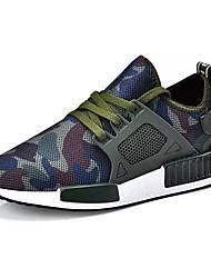 abordables -Homme Chaussures Printemps Automne Confort Chaussures d'Athlétisme Marche Lacet pour Décontracté Noir Vert