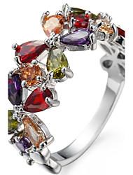 Муж. Жен. Обручальное кольцо Кольцо на кончик пальца Цирконий Циркон Медь В форме цветка Бижутерия Назначение Свадьба Для вечеринок День