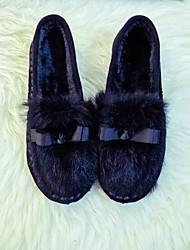Damen Schuhe PU Frühling Herbst Komfort Loafers & Slip-Ons Für Normal Schwarz Grau Leopard