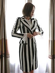 cheap -Women's Street chic Coat - Striped