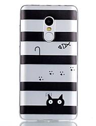 cheap -For Case Cover Pattern Back Cover Case Lines / Waves Soft TPU for Xiaomi Xiaomi Redmi Note 4X Xiaomi Redmi Note 4