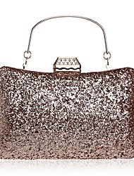 cheap -Women Bags Other Leather Type Evening Bag Appliques Crystal Detailing for Event/Party All Seasons Champagne Black Silver