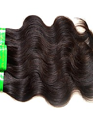 cheap -6 pieces Natural Black Body Wave Indian Human Hair Weaves Hair Extensions 0.3kg