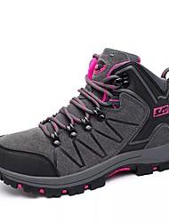 Femme Chaussures Polyuréthane Automne Hiver Confort Chaussures d'Athlétisme Marche Bout rond Lacet Pour Athlétique Gris Violet Rose