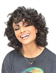 cheap -Synthetic Hair Wigs Curly African American Wig Natural Wigs Medium Natural Black