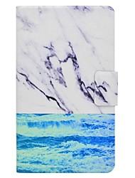 titular de cartão de padrão de mármore com suporte flip caixa de couro magnético PU para Samsung Galaxy Tab a 7.0 t280 t285 tablet de 7,0