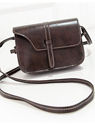 Women Bags All Seasons PU Shoulder Bag Zipper for Casual Dark Brown Light Green Black