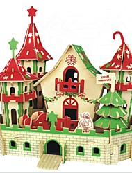 cheap -3D Puzzles Jigsaw Puzzle Model Building Kit Wood Model Castle 3D Animal Kids Hot Sale DIY Wood Christmas Houses Fashion New