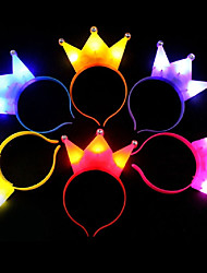 1Pcs Light Crown Xmas Led Light Headwear For Party Headband Children Gift Ramdon Color