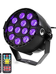 cheap -U'King ZQ-B187B#YK2 12W 12 LEDs Purple Color DMX Sound Activated Par Stage Lighting with 2 Remote Control for Disco Party Club KTV Wedding