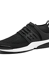 cheap -Men's Shoes Knit PU Spring Fall Comfort Athletic Shoes Walking Shoes Lace-up For Casual Outdoor Black/Red Black/White Black