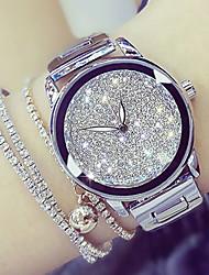 baratos -Mulheres Relógio de Pulso Japanês Relógio Casual Aço Inoxidável Banda Amuleto / Fashion Prata / Dourada