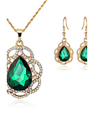 cheap -Women's Drop Earrings Necklace Crystal Rhinestone Luxury Fashion Wedding Party Crystal Rhinestone Drop Necklace Earrings