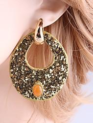 preiswerte -Damen Ohrstecker Tropfen-Ohrringe Modisch Bling Bling Leder Kupfer Tropfen Schmuck Für Normal Ausgehen