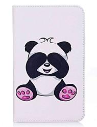 preiswerte -Hülle Für Samsung Galaxy Ganzkörper-Gehäuse Tablet-Hüllen Panda Hart PU-Leder für Tab A 7.0 (2016)