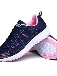 cheap -Women's Shoes Breathable Mesh Spring Fall Light Soles Athletic Shoes Running Shoes Round Toe For Athletic Casual Blue+Pink Gray Black