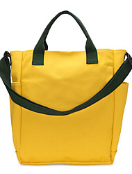 cheap -Women's Bags Canvas Tote Zipper for Shopping Casual All Seasons Yellow Army Green