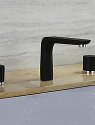 levne -Široká baterie Keramický ventil Se třemi otvory Obraz, Koupelna Umyvadlová baterie