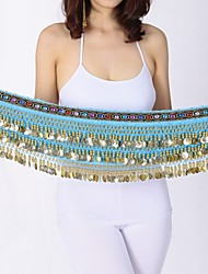 economico -Danza del ventre Cintura per danza del ventre Per donna Esibizione Chiffon vellulato Paillettes Cintura