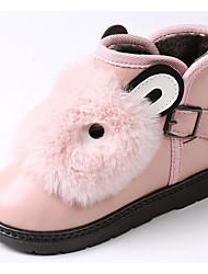 baratos -Para Meninas Sapatos Couro Ecológico Outono / Inverno Botas de Neve Botas para Cinzento / Vermelho / Rosa claro