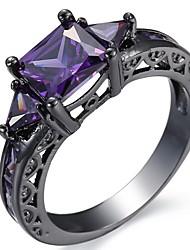 Муж. Жен. Кольцо на кончик пальца Обручальное кольцо Цирконий Мода Pоскошные ювелирные изделия Классика Elegant Циркон Медь