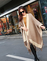 Women's Acrylic Wool Blend Rectangle Striped Spring/Fall Winter