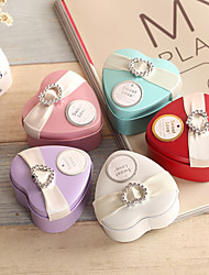 cheap -Heart-shaped Iron(nickel plated) Favor Holder With Flowers Favor Boxes