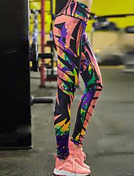 Damen Einfarbig Bedruckt Legging