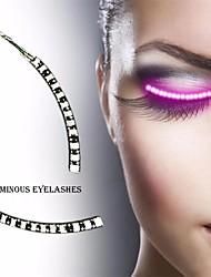 cheap -1 Pair Led Luminous Waterproof Eyelashes Strips Light Fake Eyelashes Glow For Party Costume Supplies