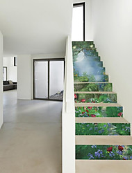 Botanical Wall Stickers Plane Wall Stickers Walking,Plastic Material Home Decoration Wall Decal