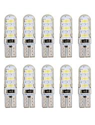 10 pcs t10 5730 blanc couleur 6 smd led gel de silice étanche coin lumière voiture parking lumière auto clairance lumières 12 v