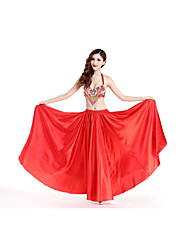 Belly Dance Outfits Women's Performance Nylon Crystals/Rhinestones Tassel(s) 2 Pieces Natural Skirts Bra