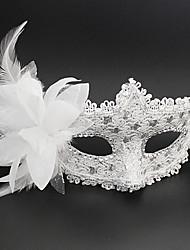 Prinzessin Märchen Maske Unisex Halloween Karneval Silvester Fest/Feiertage Halloween Kostüme Rosa Schwarz Weiß Silber einfarbig Spitze