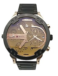 cheap -JUBAOLI Men's Sport Watch Fashion Watch Unique Creative Watch Chinese Quartz Calendar Dual Time Zones Large Dial Metal Band Cool Casual