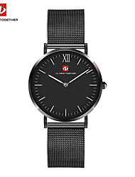 cheap -Men's Quartz Wrist Watch Japanese Hot Sale Stainless Steel Band Charm Dress Watch Fashion Black Silver Rose Gold