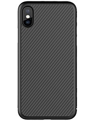 cheap -Case For Apple iPhone X iPhone 8 iPhone 8 Plus Ultra-thin Pattern Back Cover Lines / Waves Hard Carbon Fiber for iPhone X iPhone 8 Plus