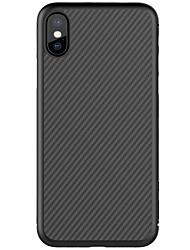 Недорогие -Кейс для Назначение Apple iPhone X iPhone 8 iPhone 8 Plus Ультратонкий С узором Задняя крышка Полосы / волосы Твердый Углеволокно для