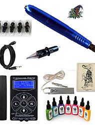 cheap -Tattoo Machine Starter Kit - 1 pcs Tattoo Machines with 7 x 15 ml tattoo inks, Professional LED power supply 1 rotary machine liner &